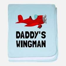 Daddys Wingman baby blanket