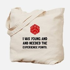 Experience Points Tote Bag