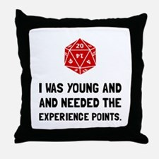 Experience Points Throw Pillow