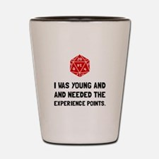 Experience Points Shot Glass