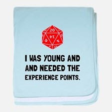 Experience Points baby blanket