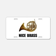 Nice Brass French Horn Aluminum License Plate