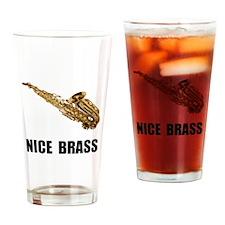 Nice Brass Saxophone Drinking Glass