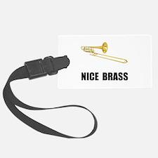 Nice Brass Trombone Luggage Tag