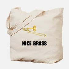 Nice Brass Trombone Tote Bag