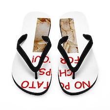 potato chip Flip Flops