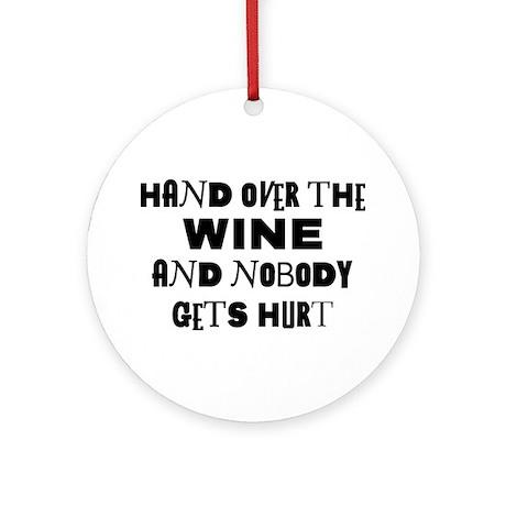 Wine Ransom Note Ornament (Round)