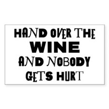 Wine Ransom Note Rectangle Decal