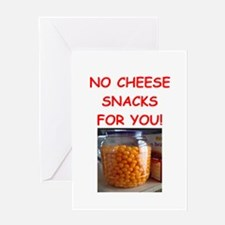 cheese snack Greeting Cards