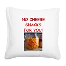 cheese snack Square Canvas Pillow