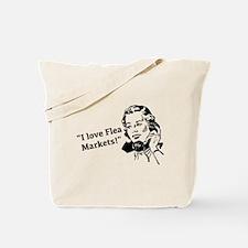 I love flea markets! (retro woman on phone chattin