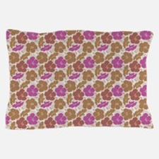 Tropical Pink Hibiscus Pillow Case
