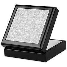 Silver Gray Glitter Sparkles Keepsake Box