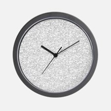 Silver Gray Glitter Sparkles Wall Clock