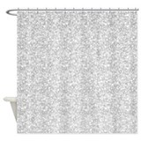 Silver glitter Shower Curtains