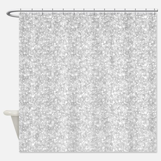 silver sparkle bathroom accessories. Silver Gray Glitter Sparkles Shower Curtain Curtains  CafePress
