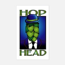 Hop Head Rectangle Bumper Stickers
