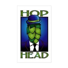 Hop Head Rectangle Decal