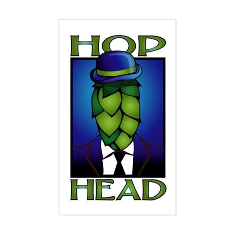 Hop Head Rectangle Sticker