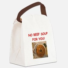 beef soup Canvas Lunch Bag