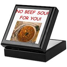 beef soup Keepsake Box