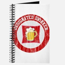 Designated Drinker Distressed Look Red Journal
