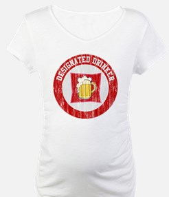 Designated Drinker Distressed Look Red Shirt