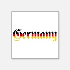 Germany in Flag Colors Sticker