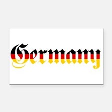 Germany in Flag Colors Rectangle Car Magnet