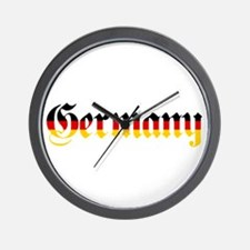 Germany in Flag Colors Wall Clock