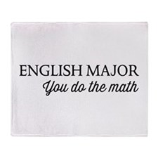 English major you do the math Throw Blanket