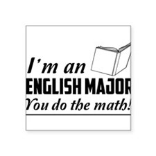 English major you do the math Sticker