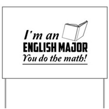 English major you do the math Yard Sign