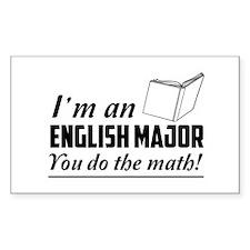 English major you do the math Decal