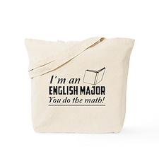 English major you do the math Tote Bag