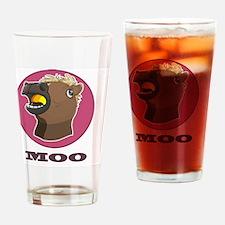 Creepy Horse Mask Meme Moo Drinking Glass
