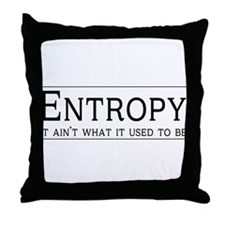 Entropy: its not what it used to be Throw Pillow