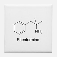 Phentermine Molecule Tile Coaster