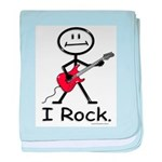 I Rock Stick Figure baby blanket