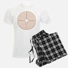 Brown Chartres Labyrinth Pajamas