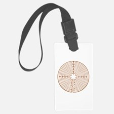 Brown Chartres Labyrinth Luggage Tag