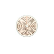 Chartres Labyrinth Mini Button (100 pack)