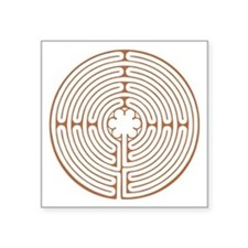 "Chartres Labyrinth Square Sticker 3"" x 3"""