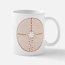 Brown Chartres Labyrinth Mug