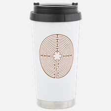 Brown Chartres Labyrint Stainless Steel Travel Mug