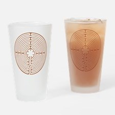 Brown Chartres Labyrinth Drinking Glass