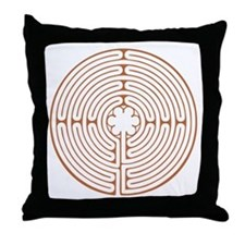 Chartres Labyrinth Throw Pillow
