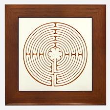 Brown Chartres Labyrinth Framed Tile