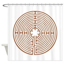Chartres Labyrinth Shower Curtain