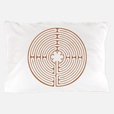 Brown Chartres Labyrinth Pillow Case